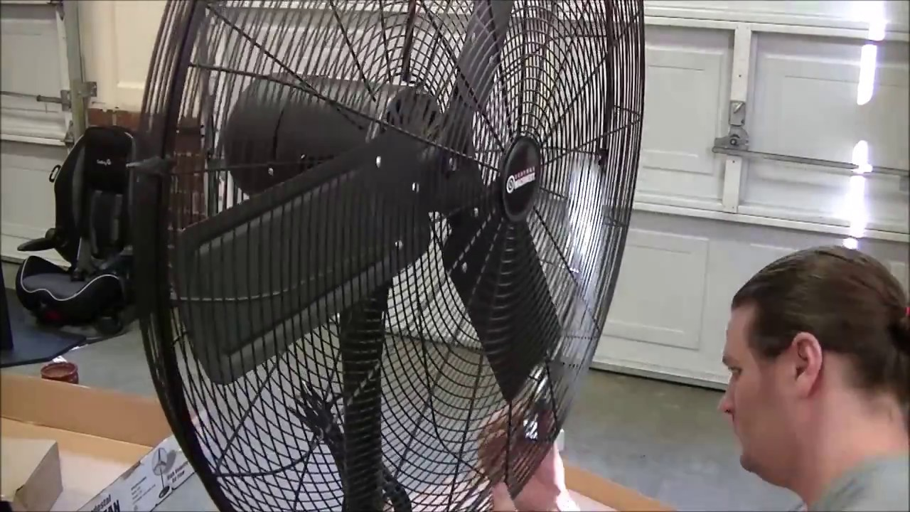 Central Machinery 30 In Pedestal Shop Fan Unboxing Review And Assembly From Harbor Freight Tools