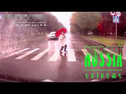 Gemein aber lustig :) Fussgänger mit dem Auto nass machen