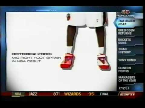590 days later, Greg Oden scores 1st pts (injury breakdown)