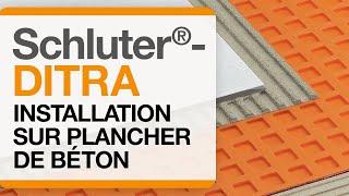 Voyez toutes les étapes d'installation de la membrane Schluter®-DITRA sur un substrat de béton.