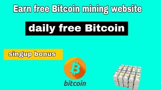 Earn free Bitcoin new mining website|earn money online|earn crypto