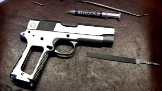 1911 build 8 commander 45 acp part 5 frame to slide fitting