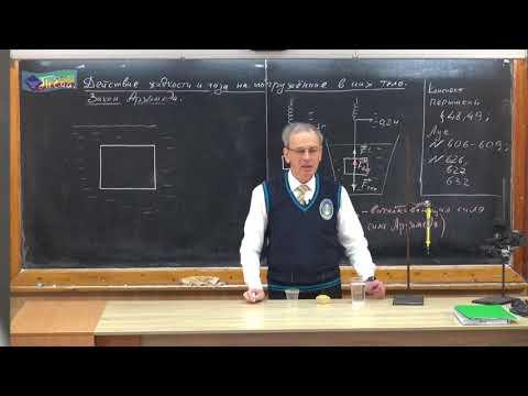 Закон архимеда 7 класс видео уроки