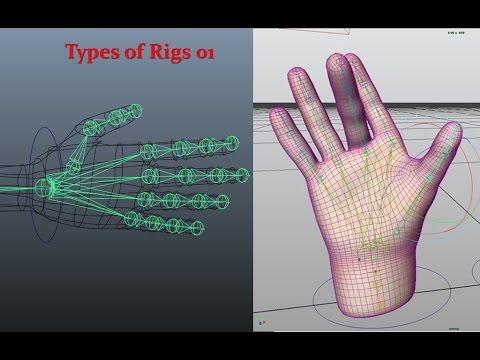 Maya 3D - Rigging - Hand Skeleton - Part 1 - Single Controller Rig