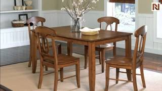 Branson Leg Table With 4 Chairs Antique Pine Finish 11022 By Standard Furniture