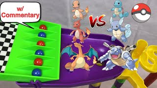 Pokemon Evolution Battle Marble Race: Squirtle Evolution vs Charmander Evolution | Pokemon Rush