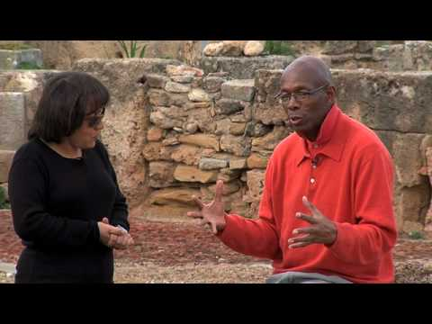 GlobeTrotter Jon Haggins TV at Utique Roman Ruin in Tunisia