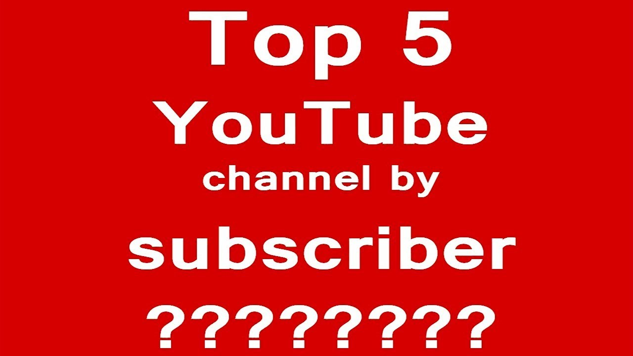 Top 5 YouTube Channel by Subscriber | Top 5 News