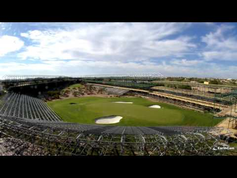Timelapse of the grandstands going up around Hole # 16!