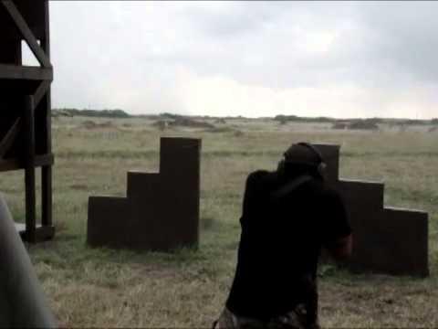 300 meters RUN, STOP, SHOOT