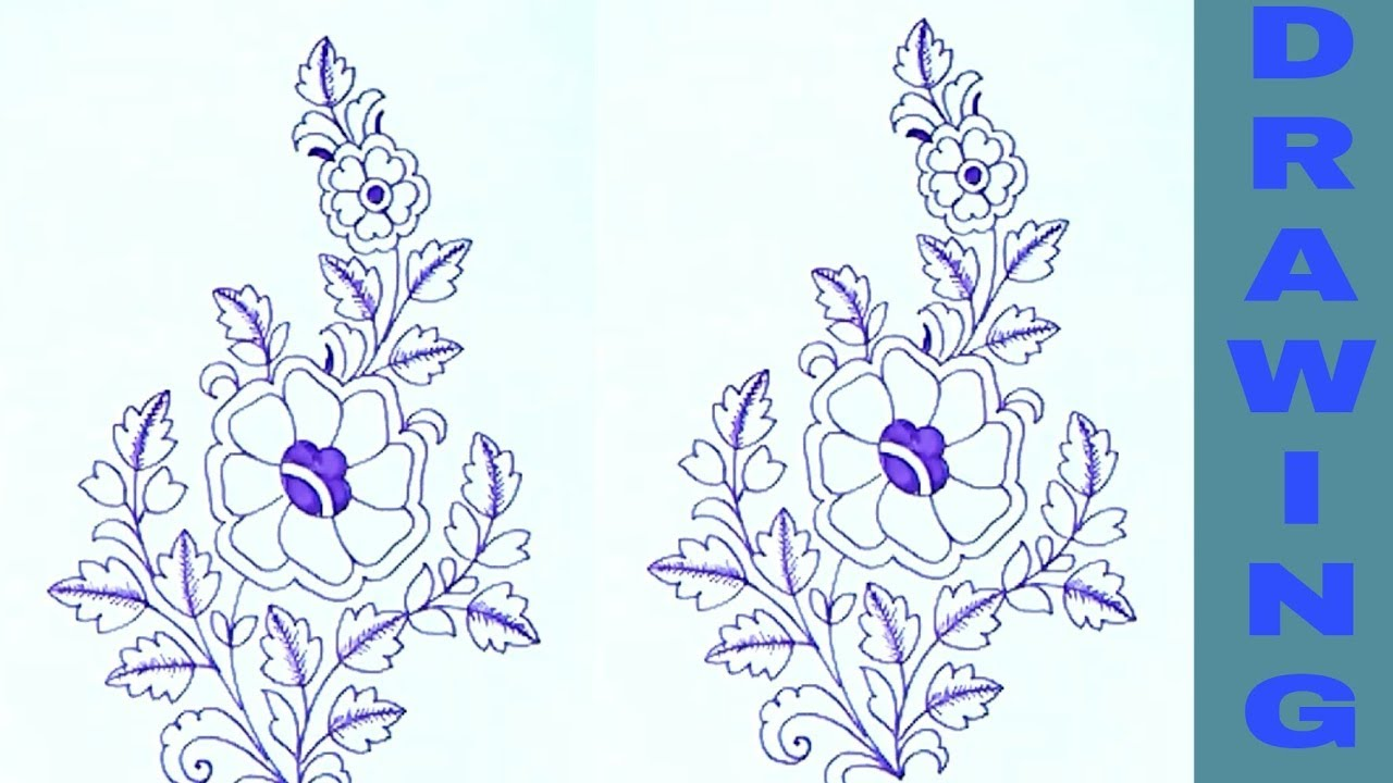 Butta design drawing for embroidery saree patterns draw flowers butta design drawing for embroidery saree patterns draw flowers patterns bankloansurffo Images