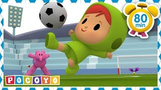 ⚽ POCOYO in ENGLISH  Play soccer with Pocoyo! [ 80 minutes ] | VIDEOS and CARTOONS for KIDS