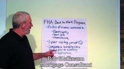 FHA - Back to Work Program - Your Mortgage Insider Report