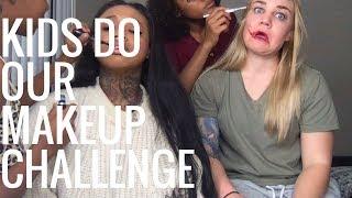 KIDS DO OUR MAKEUP CHALLENGE!