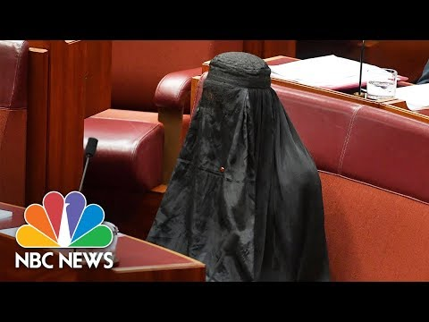 Australian Senator Caused Outrage When She Wore Burqa In Bid To Ban Them | NBC News