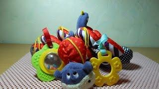 Обзор игрушек для ребенка.Яркая погремушка.Обзор игрушки.0+