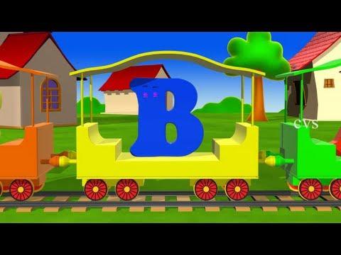 Learn Alphabet Train Song - 3D Animation Alphabet ABC Train song for children