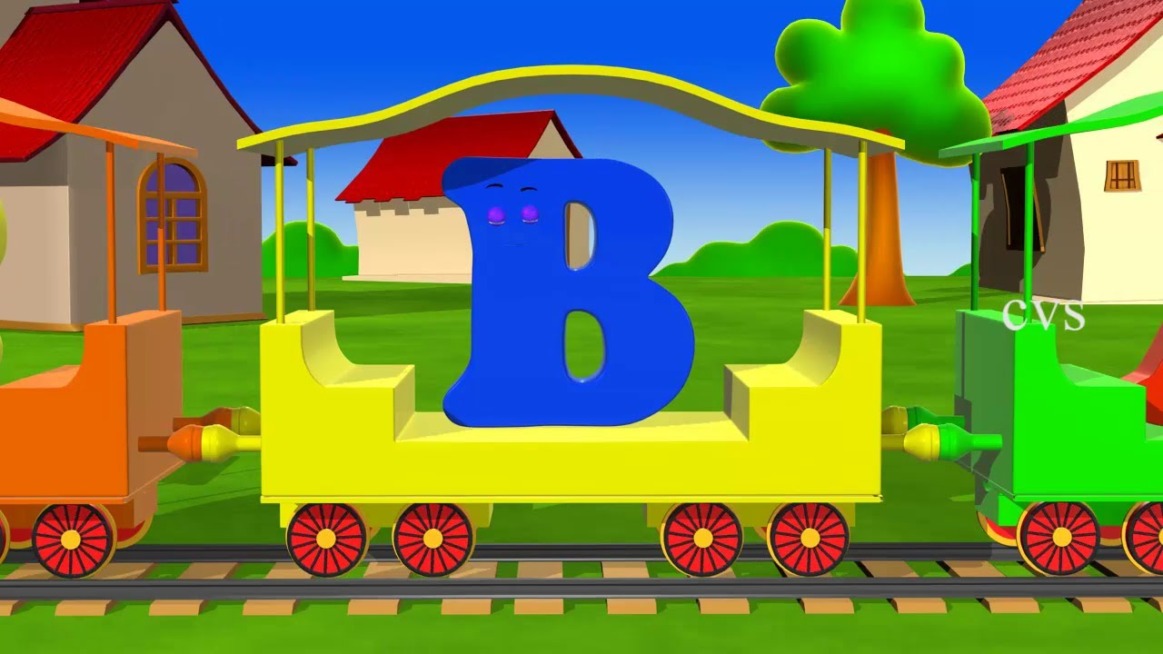 learn alphabet train song 3d animation alphabet abc train song for children youtube - Download Free Kids Cartoon