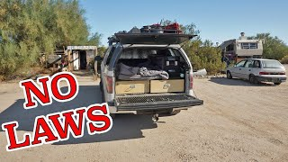 Overnight Truck Camping iฑ a City with NO LAWS