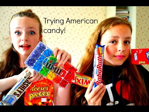 British trying American candy!