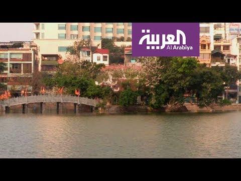 البحيرة الغربية في العاصمة الفيتنامية متنفس لسكان المدينة  - نشر قبل 1 ساعة