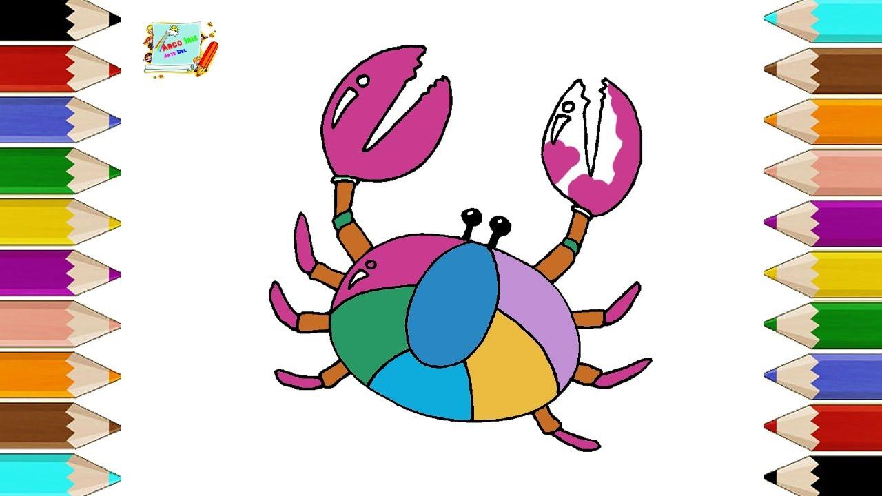 Como Dibujar un Cangrejo Facil Para Niños | Dibujos para Colorear ...