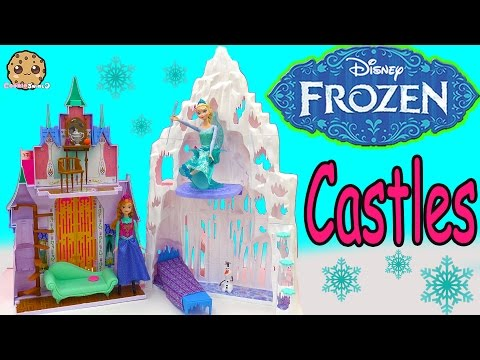 Disney Frozen 2 in 1 Castle & Ice Palace Playset For Princess Anna Queen Elsa Dolls Cookieswirlc