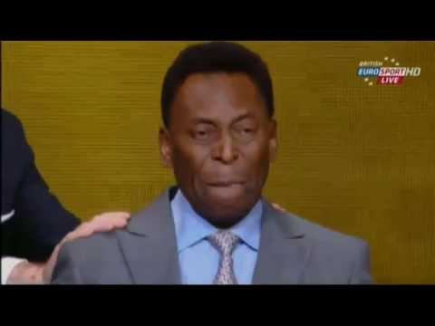 Pele crying at the FIFA 2013 Ballon d'Or ceremony