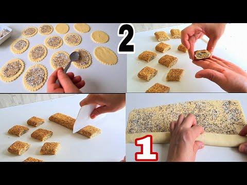 2-اشكال-بعجينة-واحدة-حلويات-سهلة-وسريعة-اقتصادية-وراقية-recette-facile-et-rapide
