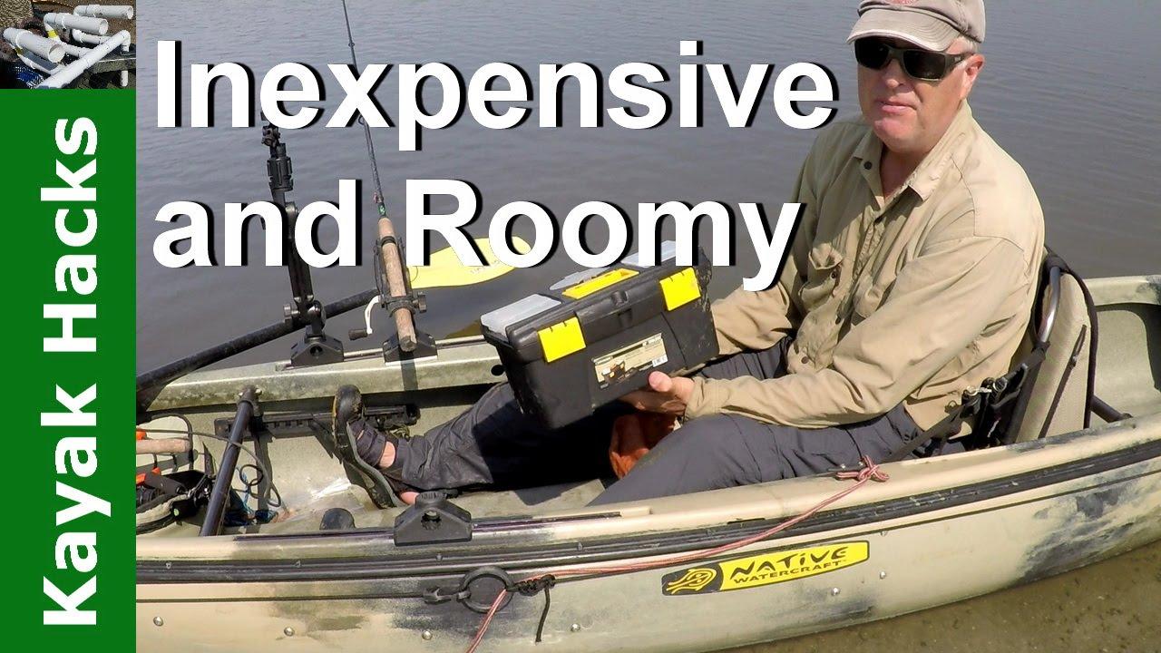 Kayak fishing tackle organization and management using a for Fishing tackle organization