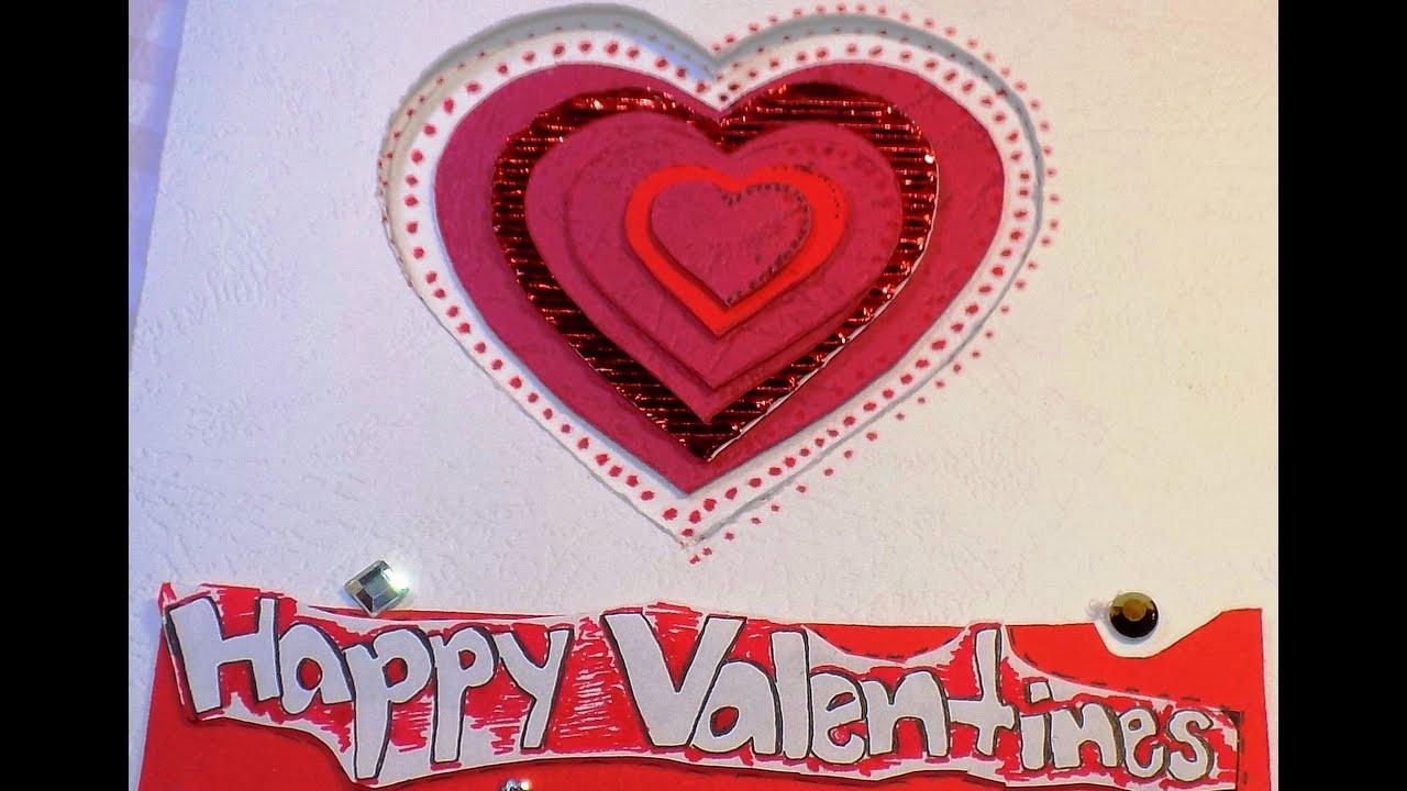 ВАЛЕНТИНКА / Открытка на День Всех Влюбленных. Valentine's Day card.