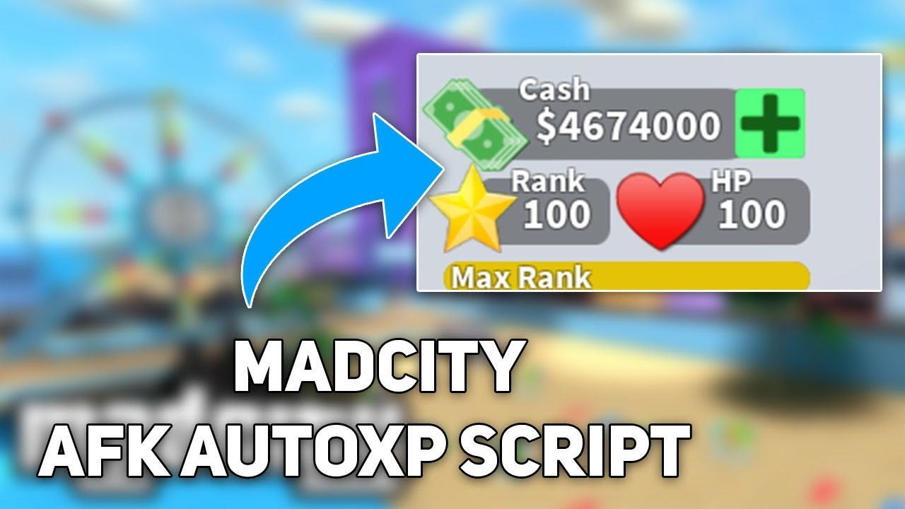 [WORKING] OP ROBLOX SCRIPT: HOW TO GET UNLIMITED XP RANK & MONEY WHILE AFK!  MADCITY OP AFK SCRIPT!