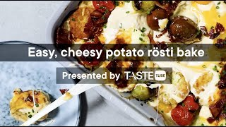 Easy cheesy potato rösti bake | Woolworths TASTE Magazine