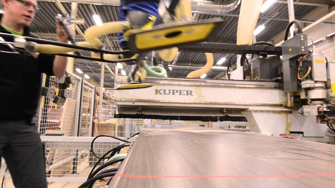 Tulp Keukens Fabriek Machinaal Frezen YouTube
