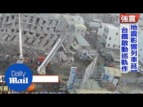 Taiwan quake: Daytime drone footage reveals extent of damage - Daily Mail
