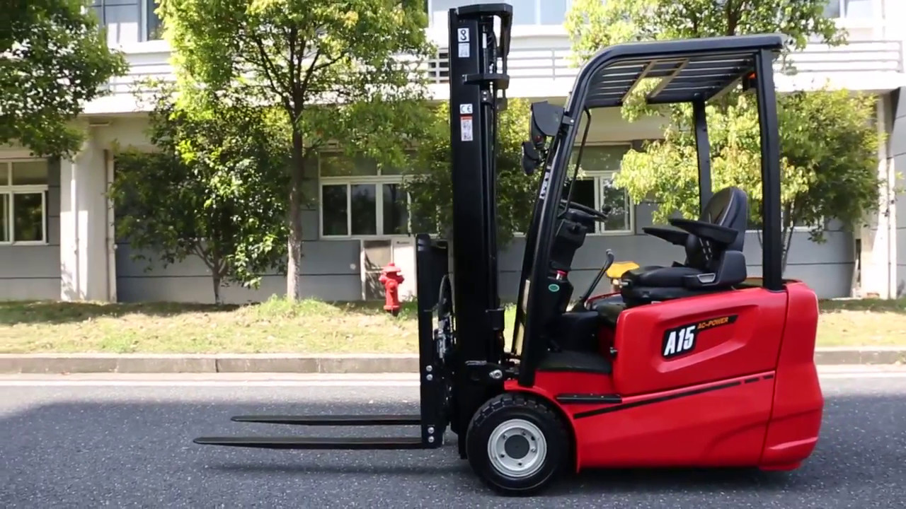 Fork Lift Wheels : A series wheel electric forklift youtube