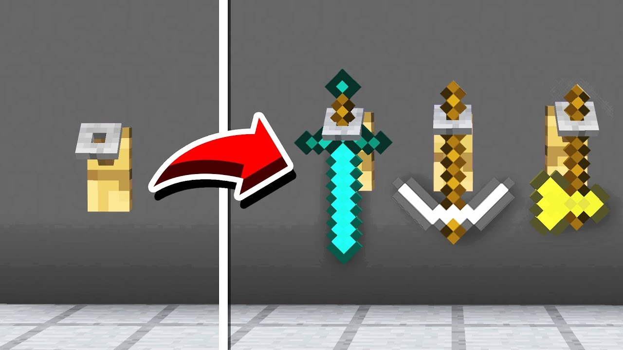 minecraft weapon stand