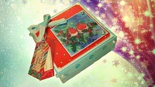 Оформление подарочной коробочки на РОЖДЕСТВО / МК / Decorative handmade boxes(Украшение коробочки своими руками / МК Обучающее видео.Небольшой мастер-класс по оформлению подарка! Всё..., 2014-12-31T06:35:03.000Z)