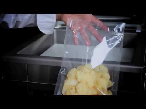 Cómo envasar al vacío un alimento con gas inerte (CC: Français   English)