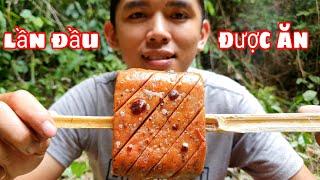 Thử Ăn Thịt Nguội Nướng Giòn | Bữa Cơm Trưa Trong Rừng
