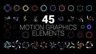 45 Motion Graphics Elements   After Effects template