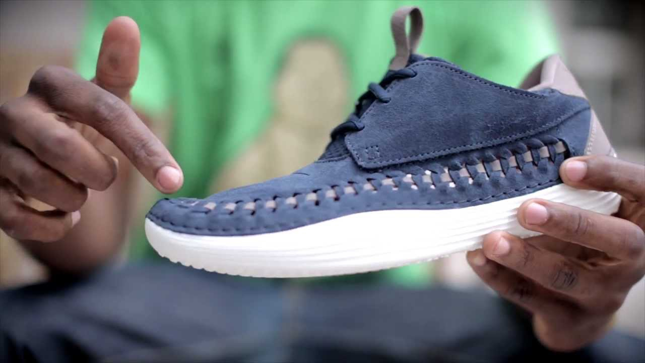sneakers for cheap a47ac 3e673 Nike Solarsoft Moccasin Premium Woven  Live Look - YouTube