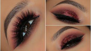 Red Glitter Smokey Eye | Amys Makeup Box