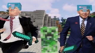 Trump & Biden play Minecraft