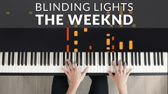 The Weeknd - Blinding Lights | Tutorial of my Piano Cover