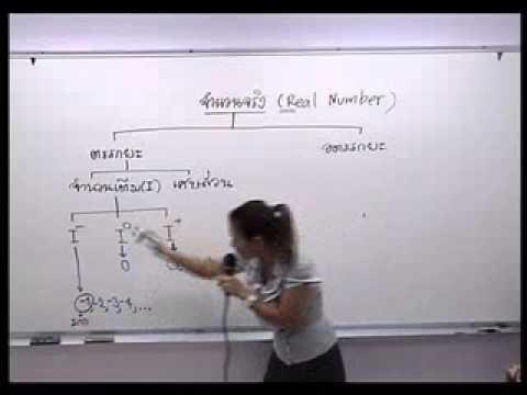 ตัวอย่างการสอน : คณิต ม.2 เทอม 2 เรื่อง จำนวนจริง