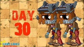 Plants vs Zombies 2 - Wild West - Day 30 [Cart-Head Zombie] No Premium