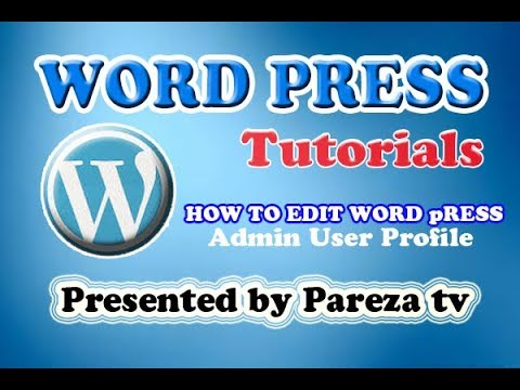 How To Update Admin Profile in WordPress-Urdu-Hindi