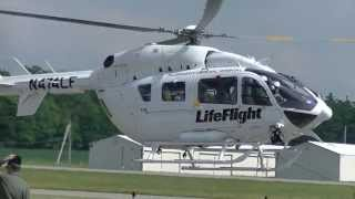 Messerschmitt MBB BK-117 C-2, EC-145 Helicopter. Life Flight. ADAC. Start up.