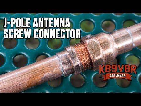 KB9VBR 2 Meter Break Away J-Pole Antenna Screw Connector - YouTube